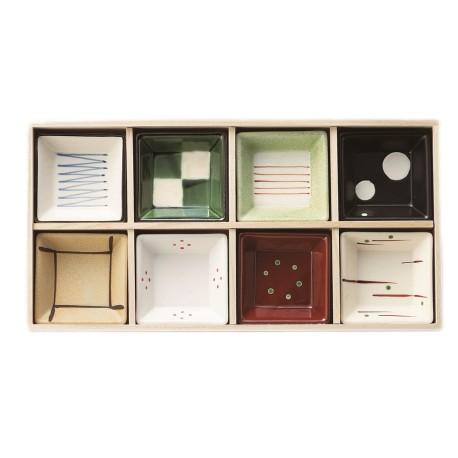 Set de 8 coupelles japonaises etsuke en céramique