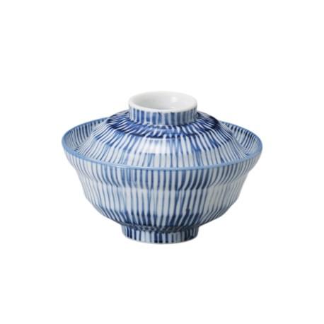 Bol japonais bleu avec couvercle