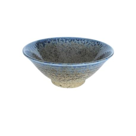 Bol évasé bleu en céramique japonaise