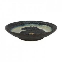 Assiette japonaise noire et verte