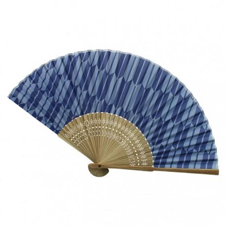 Eventail sensu bleu motifs flèches