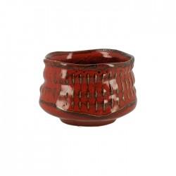 Bol à Matcha rouge pour la cérémonie du thé