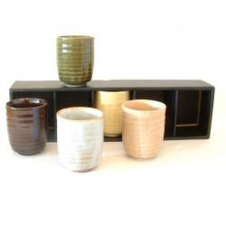 Set de 5 petits verres à thé japonais