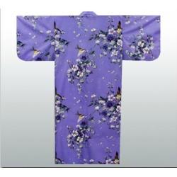 Yukata japonais pour femme fleurs et oiseaux