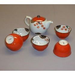 Service à thé en céramique japonaise Momiji