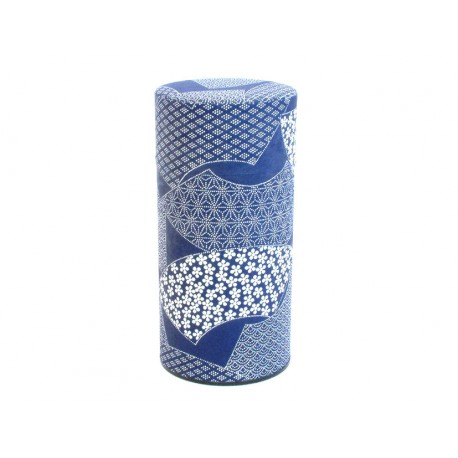 Boite à thé bleu patchwork
