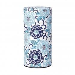 Boite à thé japonaises Sakura bleu