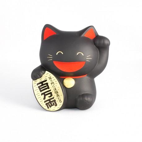 Chat japonais Maneki neko noir