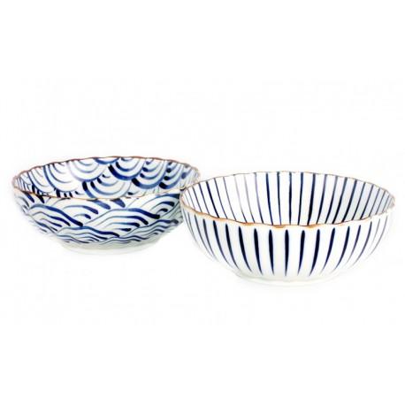 Set de 2 saladiers en céramique japonaise 18.5 cm