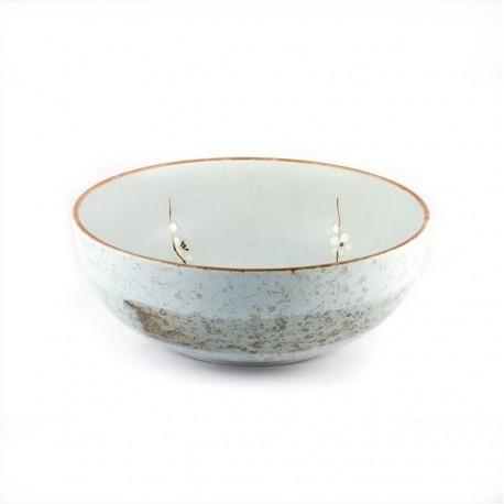 Saladier en céramique japonaise beige 23.8 cm