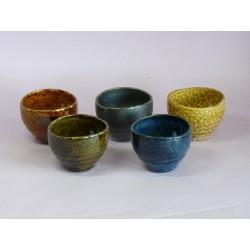 Set 5 tasses à thé colorées