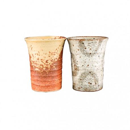 Set de 2 tasses style artisanal