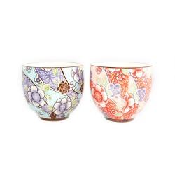Set de 2 tasses à thé fleurs