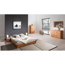 Chambre complète avec Lit Shizen bas naturel