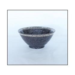 Bol évasé brun en céramique japonaise