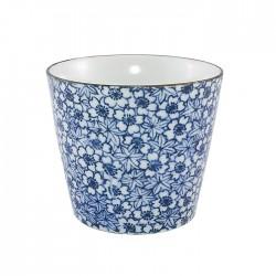 Bol à soba bleu fleurs