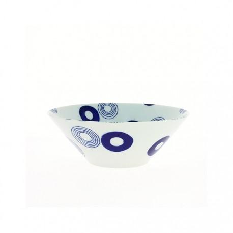 Bol large en porcelaine japonaise cercles