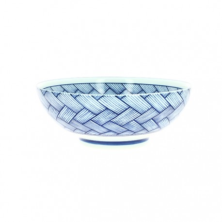 Saladier en porcelaine japonaise motifs nattes