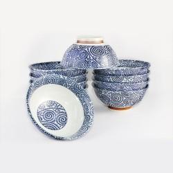 Sets de 10 bols japonais motifs spirales