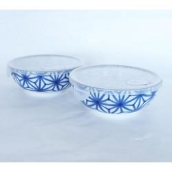 Set de 2 bols japonais Asanoha avec couvercles