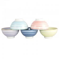 Set de 5 bols japonais 11.8 cm