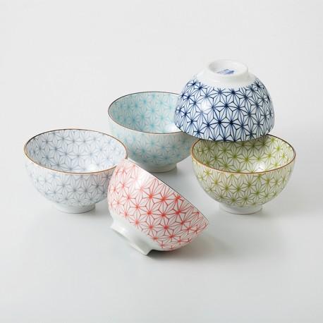 Set de 5 bols à riz japonais Sachiko