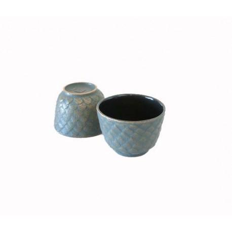 Duo de tasses Matsu bronze