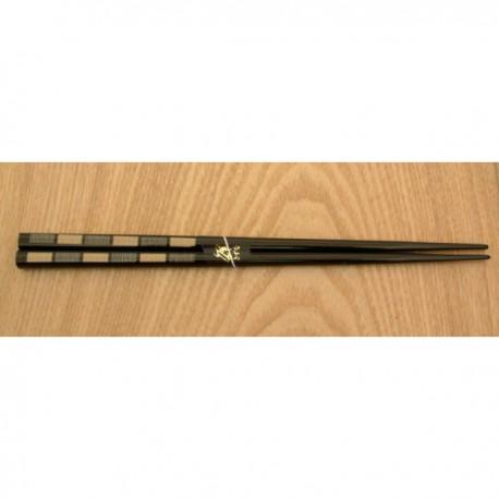 Paire de baguettes 22.5 cm noires à motifs duos