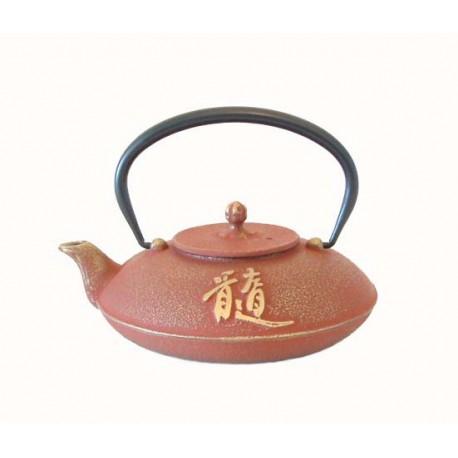 Théière japonaise en fonte Zui 0,65 Litre or et rouge