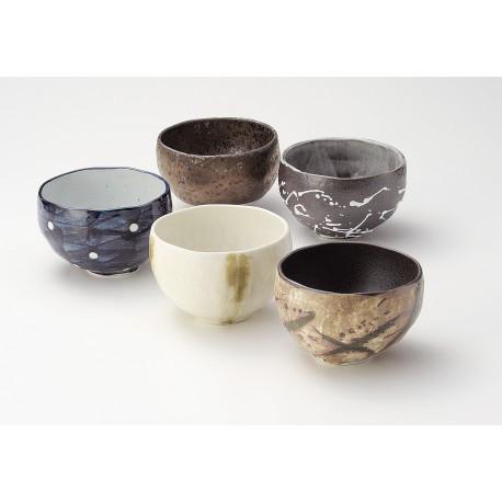 Set 5 tasses à thé Wabisabi
