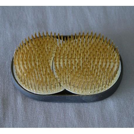 Kenzan japonais pour l' Ikebana en double ronds 8 x 5,8 cm