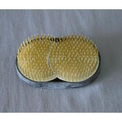 Kenzan japonais en double ronds pour l'Ikebana 9,3 x 5,9 cm