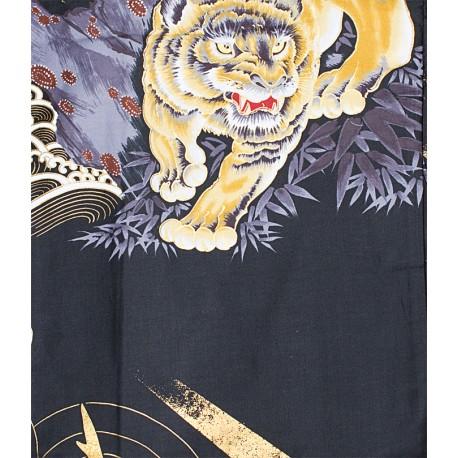 Yukata tigres et dragons noir
