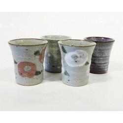 Set 4 verres à thé style artisanal