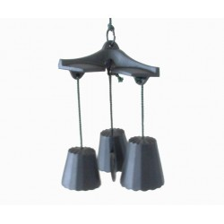 Carillon à vent avec 3 clochettes japonaises Furin en fonte