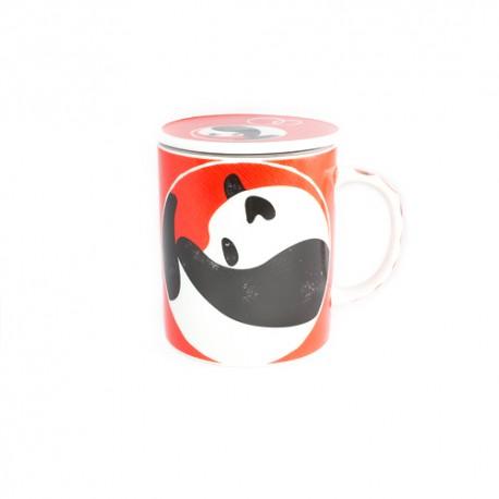 Tisanières Panda rouge