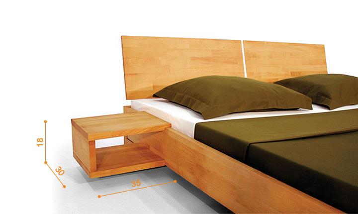 Dimensions du chevet pour lit Shizen bas naturel