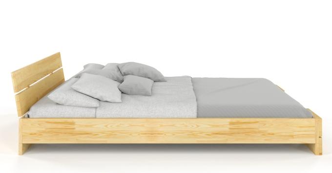 Lit Kodo en bois de pin massif vu de coté