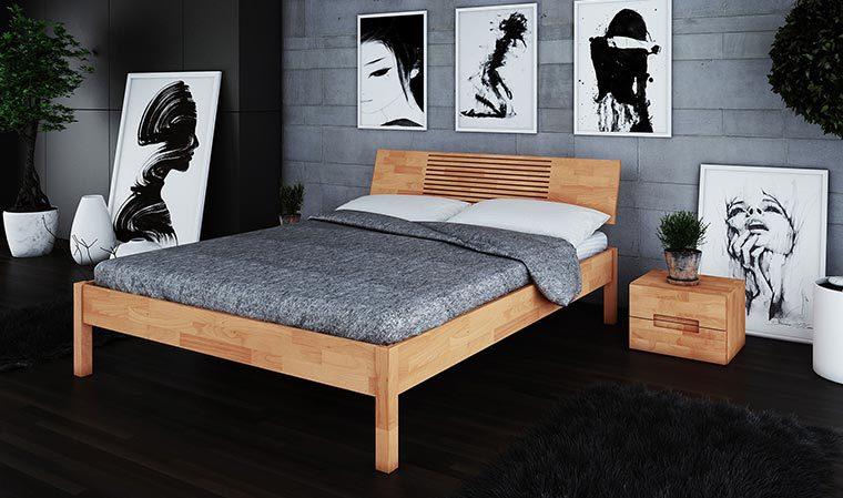 Chevet pour lit Shizen haut naturel